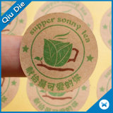 Adhesive Kraft Paper Stickers for Food Package Mark