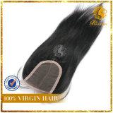 100% Virgin Human Hair 4*4 Lace Closure Silky Straight