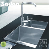Stainless Steel Rectangular 80/20 Offset Double Kitchen Sink