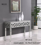 Vanity Design Mirrored Console Table with Caved Shape