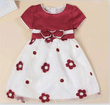 Summer Dresses Beautiful Red Flower Dress with Suitable Wholesale Price