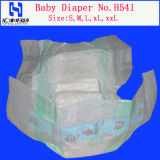 Cloth-Like Baby Diaper with Magic Tapes (H541)