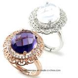 Semi-Precious Stone Jewelry Ring 925 Silver Ring Silver Jewelry with Gemstone R0060py