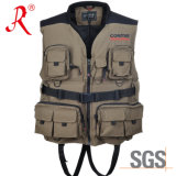 Waterproof and Breathable Fishing Vest with Ce Certificate Approval (QF-1912)