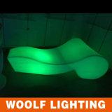 LED Illuminated Portable Plastic Beach Bed