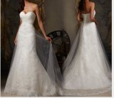 Lace Beaded A-Line Bridal Wedding Dresses (NWD1004)