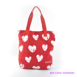 Red Heart Printed Canvas Bag (B14802)