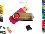OEM, Logo Printed USB Flash Drive, Hot Selling USB Stick, Swivel USB 1/2/4/8/16/32GB (MA-001U)
