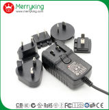 12V3a AC/ DC Power Adaptor with Exchangeable Us Au UK EU Cn Plugs