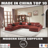 Modern Design Leisure Leather Couch Corner Sectional Living Room Sofa