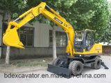 Baoding Small Wheel Excavators 8.5ton/0.3m3 Bucket with Best Price