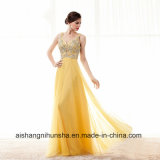 Fashion A-Line Beaded Crystals Chiffon Formal Evening Gown Prom Dress