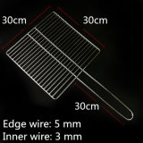 30 X 30 Cm Barbecue Basket Stainless Steel Outdoor BBQ Grill Mesh with Handle