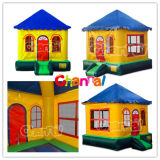 Inflatable Air Jumper Trampoline Cottage Bounce House