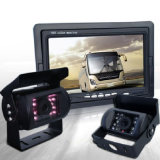 "Truck 7"" Quad Digital LCD Reversing Monitor 4 Video +4 CCD Backup Camera"