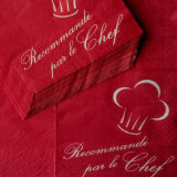 Custom Printed Paper Napkins Pre-Folded Serviette Party Napkin