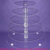 Clear Acrylic 6 Tiers Cake Cup Display Stand