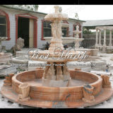 Sunset Red Marble Sculpture Fountain for Home Decoration Mf-154