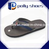 Comfortable Fabric Upper Black Casual Beach Wedge Men Flip Flop