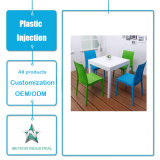Customized Plastic Injection Moulding Products Plastic Furniture Dining Table and Chair