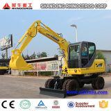 Xiniu New 6t 0.25cbm Bucket 4X4wd Hydraulic Wheel Excavators for Sale