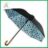 2017 Oil Painting Sun Rain Parasol Compact Golf Umbrella