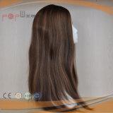 Human Hair Highlight Color Jewish Kosher Wig (PPG-s-035)
