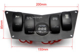 Dash Panel 4 Rocker Switch Digital Volt for Polaris Ranger Rzr XP 800s 900XP