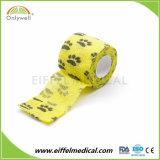 Ce/FDA/ISO Printed Vet Wrap Self Adhesive Elastic Cohesive Bandage