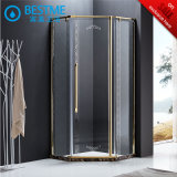Luxury Golden Stainless Steel Shower Enclosure (BL-B0010-E)