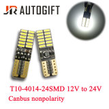 T10 4014 24 SMD Canbus wide voltage car LED Light