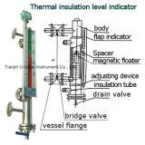 Magnetic Flap Bi-Color Floater Level Gauge Meter with Heating Jacket