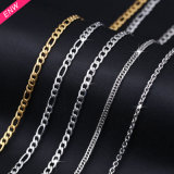 Fashion Gold Stainless Steel Fhat Nk Chain for Necklace
