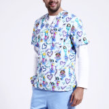 Wholesale V-Neck Animal Print Scrub Top/Hospital