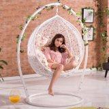 Outdoor Garden Furniture White Metal Frame Swing Chair Creative Design