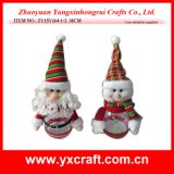 Christmas Decoration (ZY15Y164-1-2) Santa and Snowman Christmas Candy Jar Pack