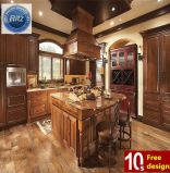 Solid Wood Red Luxurious Kitchen Cabinet Manufacturer Furniture