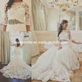 Lace Wedding Dress Long Sleeves Mermaid Bridal Gown H196