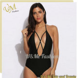 Black Deep V Neck Sexy Bikini Woman 2017 Wholesale Swimsuit