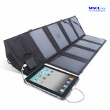 28W DC and USB Dual Output Foldable Solar Panel Charger for iPad, PDA, Cell Phone, Video Camera Outdoor Charging Device (FSC-28B)