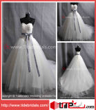 Hot Sell Ball Gown Sweetheart Bow Bride Tulle Bridal Gown/Wedding Dress (AS4101)