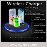 Ultra-Thin Metal Round Universal Qi Standard Wireless Mobile Phone Charger