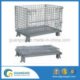 Collapsible Wire Mesh Container Used for Storage