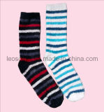 Stripe Design Lady Cosy Bed Socks
