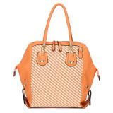 Hot Selling Lady Color Combination PU Tote Handbag (MBNO034064)