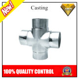 304 Casting Stainless Steel Pipe Connector for Handrail