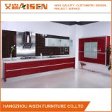 Individual/ Commercial Home Furniture Red Lacquer Kitchen Cupboard