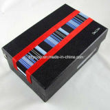 Customized Rectangle Paper Fashionable Black Color Shoe Box