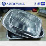 Airline Smooth Wall Aluminum Tray for Food