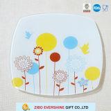 Square Shape Glass Fruit Plate Glass Dish